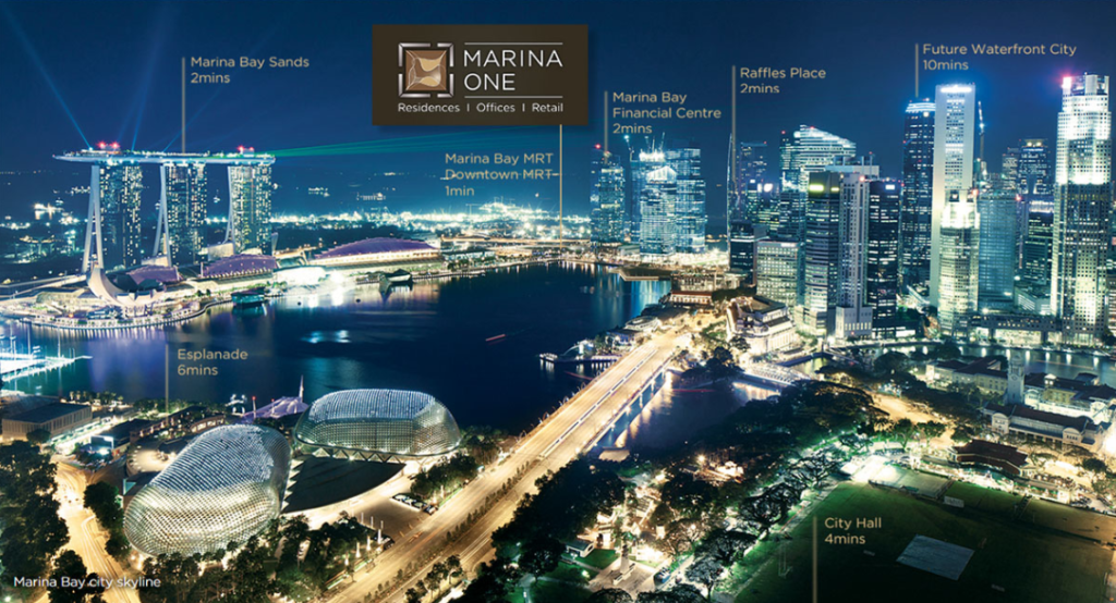 Marina One Night Skyline